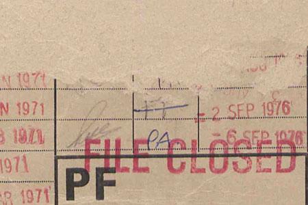 Files Closed