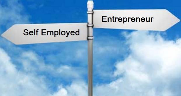 Self-employed versus entrepreneur