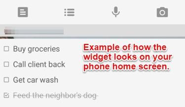 googlekeep-widget