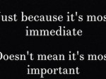 Immediate vs Important2