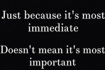 Immediate vs Important2
